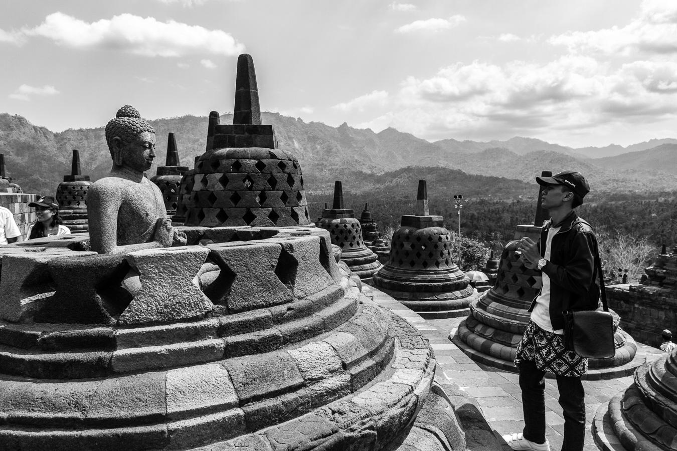 Photographie de voyage - Borobudur, Java, Indonésie