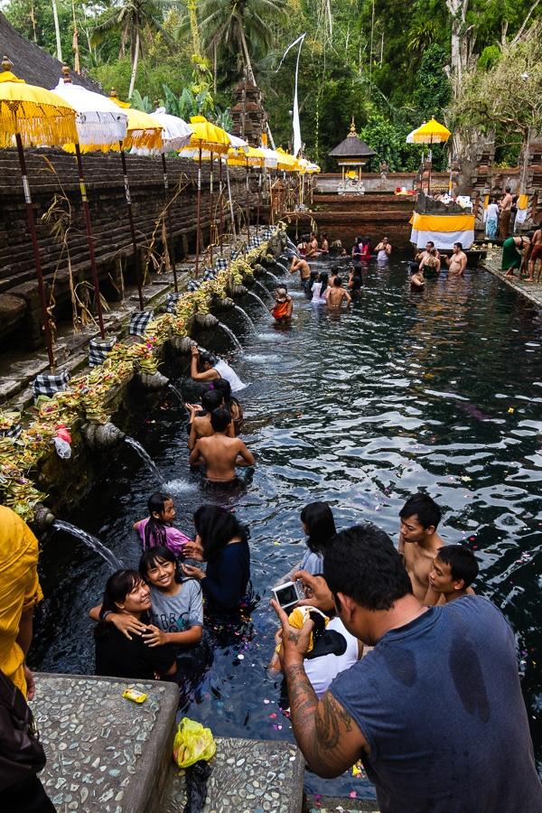 Photographie de voyage - bains publiques, Bali, Indonésie